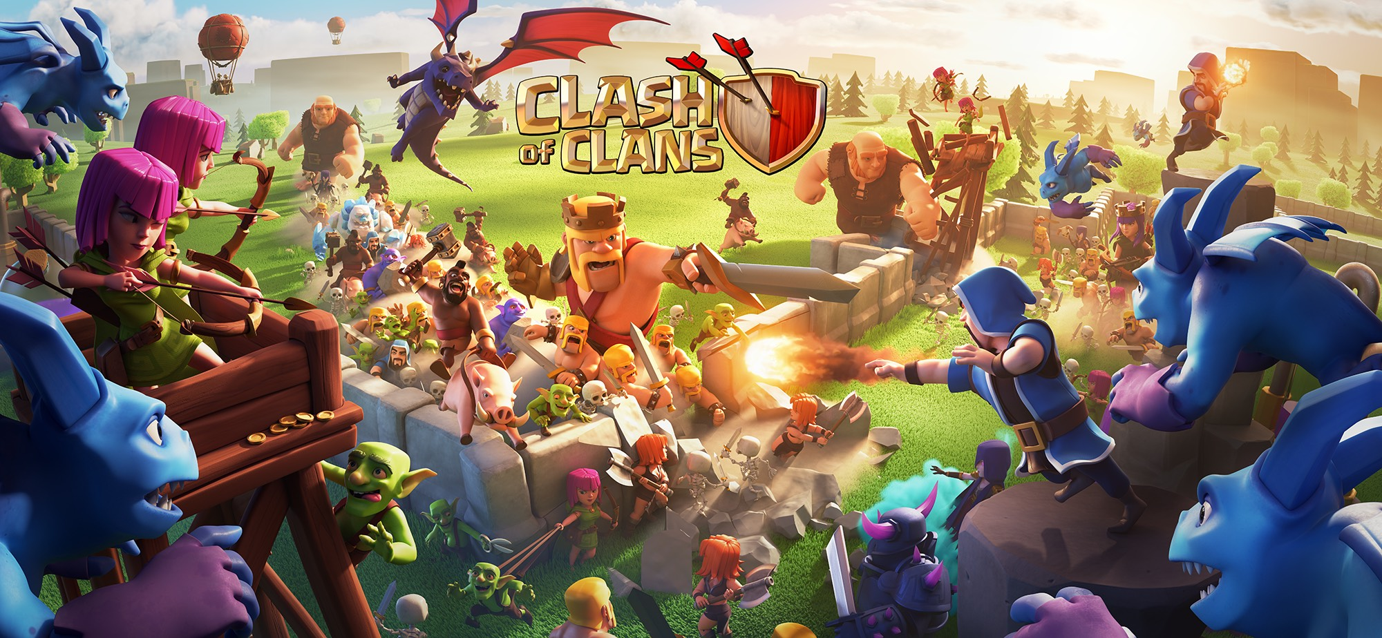 Clash of Clans Wall banner